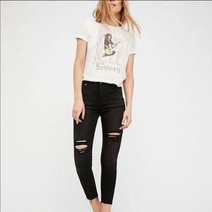 Free People Shark Bite Skinny Jeans Size 28R
